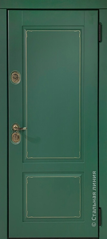Зелёный турмалин и Белый с патиной с 2-х сторон