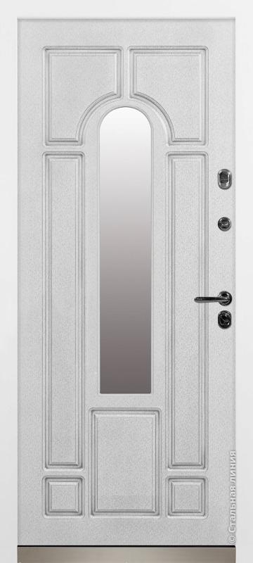 Белый с серебряной патиной внутри