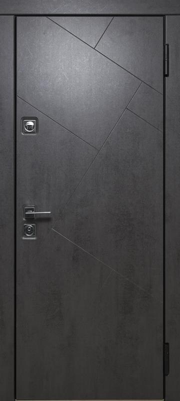 Тёмно-серый камень и Бежевый бетон