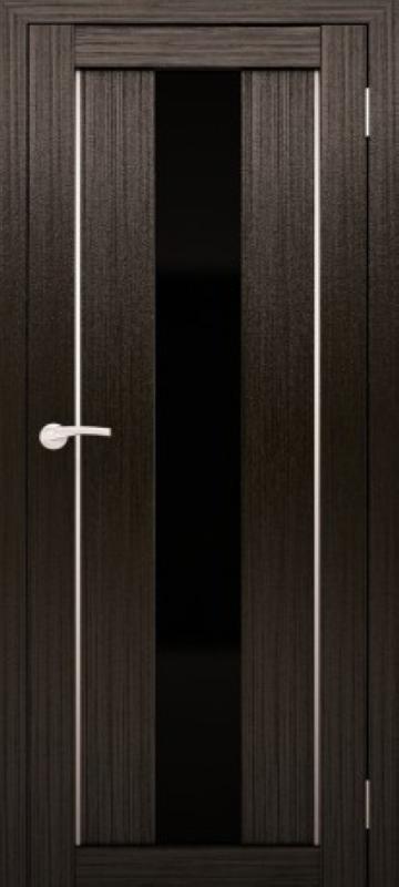 Венге с чёрным стеклом