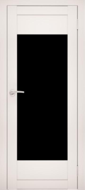 Белый с чёрным стеклом
