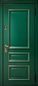 Зелёный турмалин и Слоновая кость с патиной с 2-х сторон